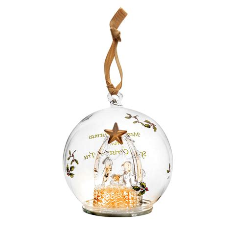 led ornaments spode manger glass led ornament 2016 silversuperstore