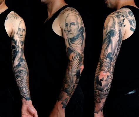 free mason tattoo amazing george washington and free sleeve