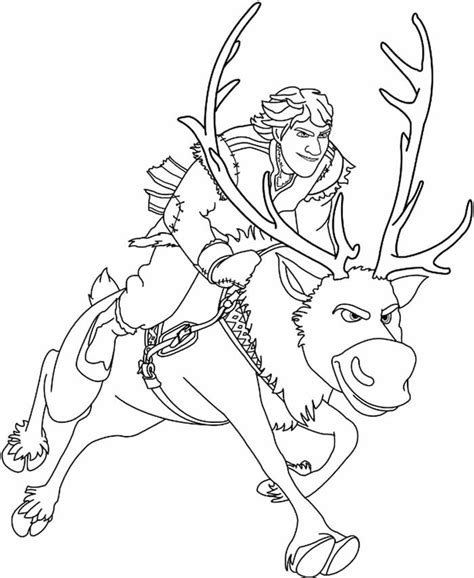 sven reindeer coloring page coloriage reine des neiges gratuit 224 imprimer coloriage