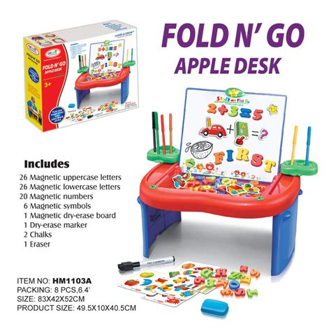 Mainan Edukatif Fold And Go Apple Desk h m toys product details