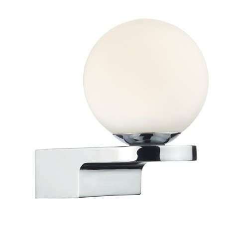 led bathroom lights led bathroom wall light in deco style with opal glass