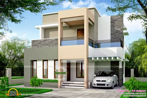 types of house designs clean box type house exterior kerala home design and