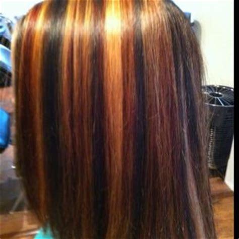 tri colored hair tri color highlight cherie hudson pinterest colors