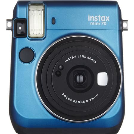 fujifilm instax mini 70 instant film camera, island blue