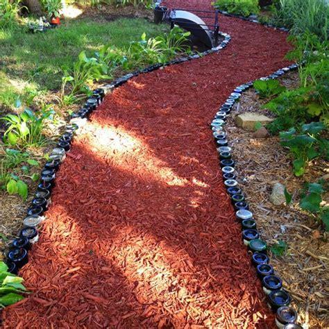 wine bottle path bottle garden garden paths garden
