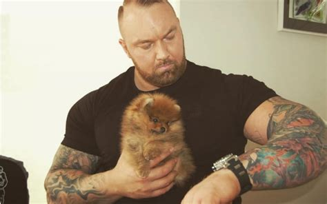 actor dog game of thrones the mountain from game of thrones has a tiny fluffy dog