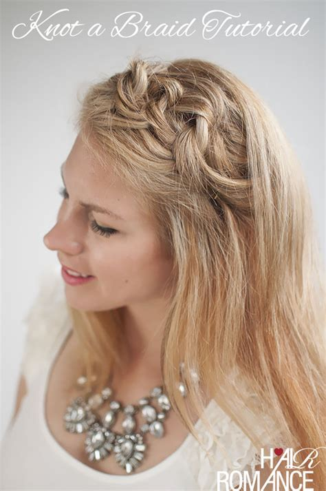 love knots hairstyle blondes week knot a braid hairstyle tutorial hair romance