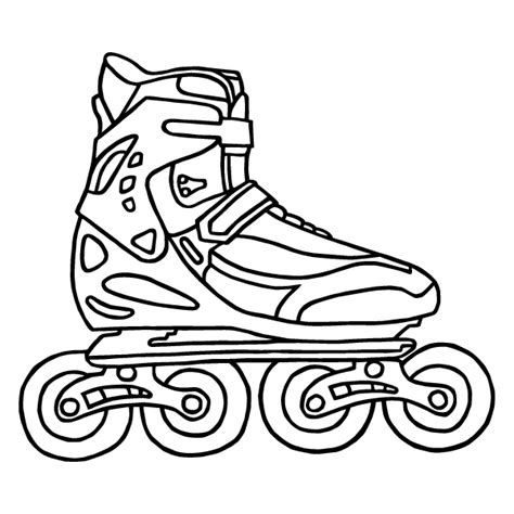 sketch of roller skates coloring coloring pages