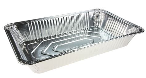 large deep rectangle aluminium foil catering tray
