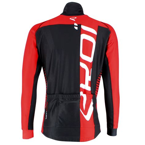 cycling outerwear ekoi perfolinea black red thermal cycling jacket ekoi