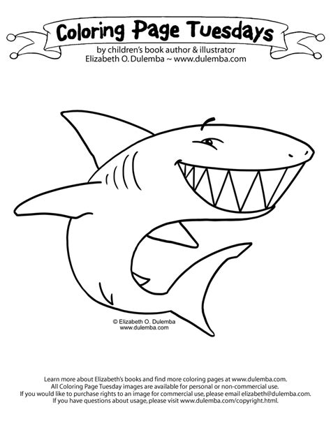 big shark coloring page dulemba coloring page tuesday shark