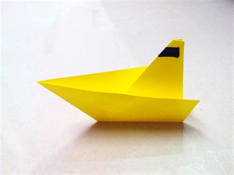 Paper Canoe Craft - how to make an origami paper boat 2 paper folding