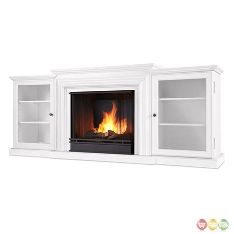 frederick entertainment center ventless gel fireplace in