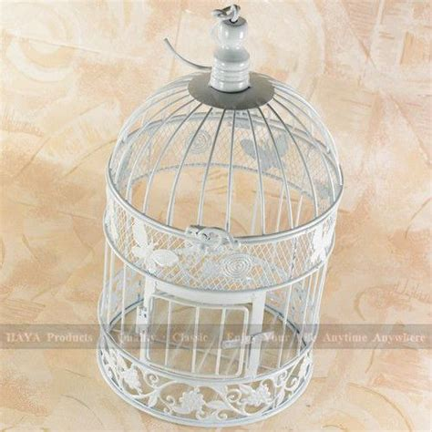 White Birdcage Wedding Gift Card Holder Wishing Well - 34cm high a cage for birds butterfly decorated bird cages garden decorative birdcage