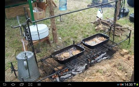 outdoor cooking outdoor cooking cast iron storage cook setup