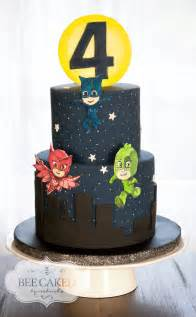 pj masks cake for 4 year old bee caked edible art pinterest pj mask pj and masking