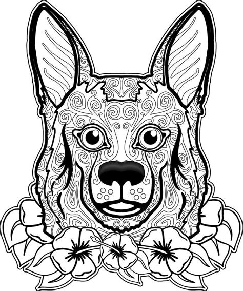 dogs coloring pages difficult adult coloring home