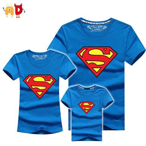 ad 1pcs superman family matching t shirts quality cotton