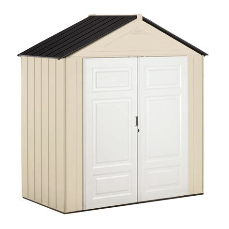 Rubber Made Storage Sheds by Shop Rubbermaid Gable Storage Shed Common 7 Ft X 3 Ft Actual Interior Dimensions 6 75 Ft X 3