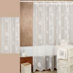 Seashell Bathroom Accessories by Seashells Lace Shower Curtain