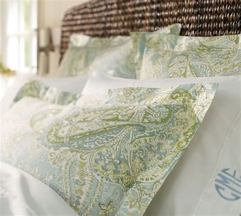 pottery barn paisley bedding sienna paisley duvet cover sham blue pottery barn