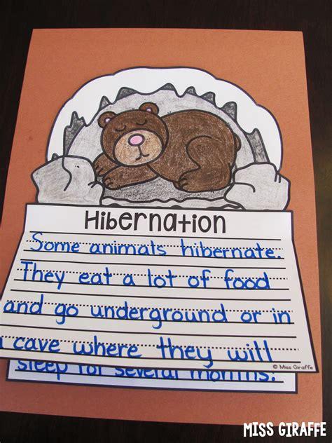 hibernation crafts for miss giraffe s class january writing crafts