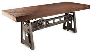 Industrial Kitchen Table Furniture Gerrit Industrial Style Rustic Pine Iron Dining Table Transitional Dining Tables By Kathy