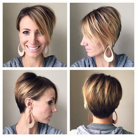 long pixie cut tutorial long pixie 360 degree view asymmetrical ombre one