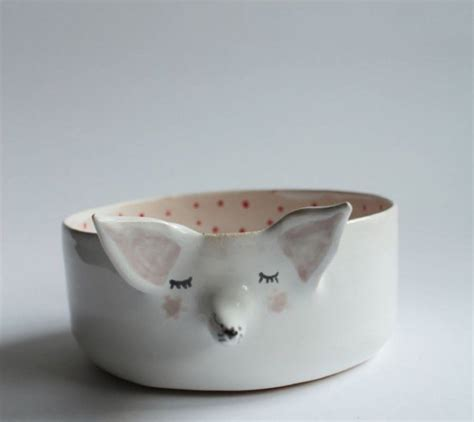 animal handmade ceramic bowls and plates fubiz media