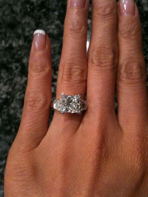3 carat princess cut engagement ring weddingbee