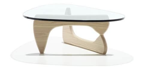 noguchi style coffee table 19mm glass top with walnut