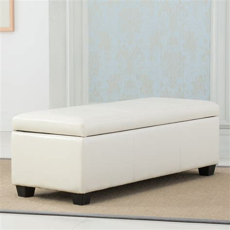 48 inch storage bench new ottoman storage long footrest bench modern bedroom