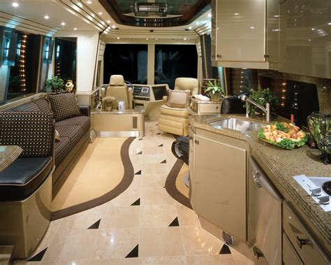 motor home interiors prevost rv motorhomes for rent or lease with