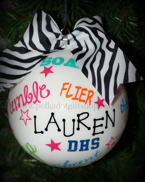 cheer ornament christmas gifts for cheerleaders