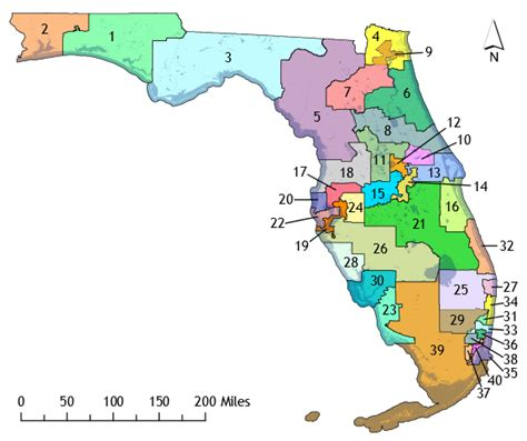 Federal Court Records Florida District Maps The Florida Senate