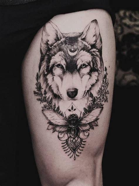 dotwork wolf tattoo inkstylemag