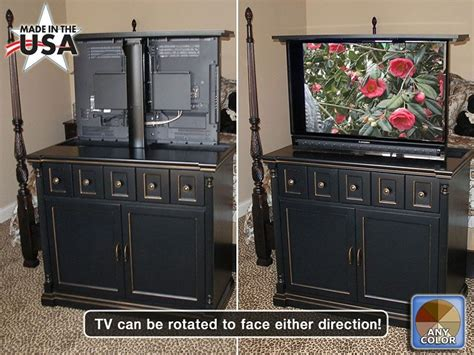Tv Lift Cabinet Foot Of Bed by Custom Made Black Foot Of The Bed Tv Lift Cabinet With