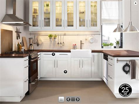 images of white kitchen cabinets decorating the minimalist kitchen with stylish ikea white