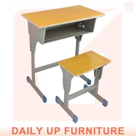 wooden study table and chair school student desk and chair fixed child bed room