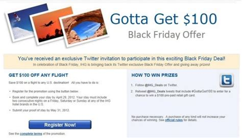 Ihg Sweepstakes - ihg 100 off flight with 2 night weekend stay loyalty traveler