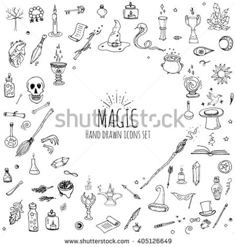magic doodle free doodle magic set vector stock vector 405126649