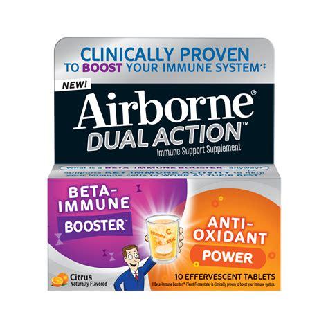 Imune Booster airborne dual beta immune booster anti oxidant immune support supplement