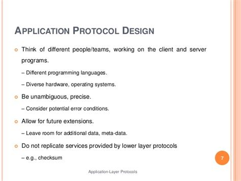 design application protocol application layer