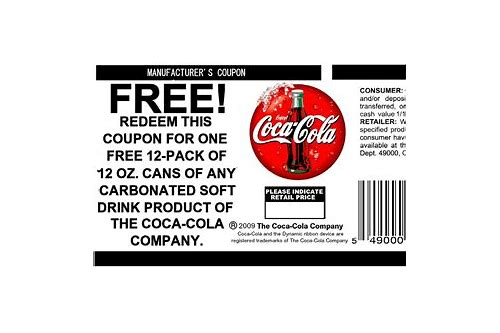 coca cola manufacturer coupon 2018