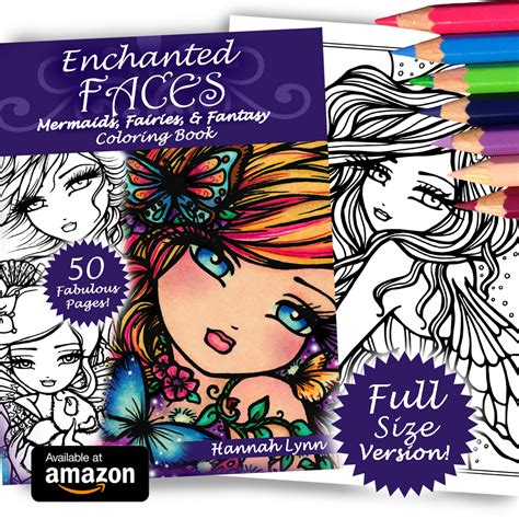 enchanted fairies coloring book books enchanted faces size mermaids fairies