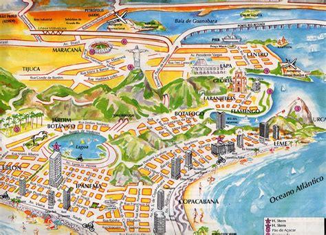 de janeiro map de janeiro beaches map images
