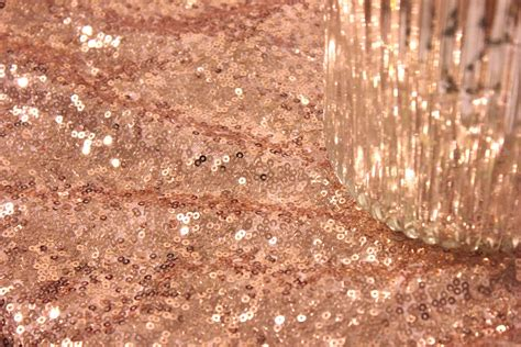 Chevron Table Linens - 30 ft fabric bolt rose gold blush sequin cloth by sparklesoiree