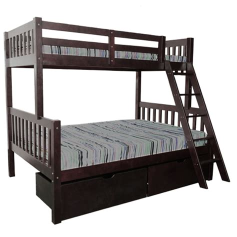 Bunks N Beds Verona Bunk Bed Espresso Single Bunks