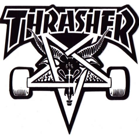 Kaos Thrasher Free Sticker 1 thrasher thrasher skategoat skateboard sticker thrasher