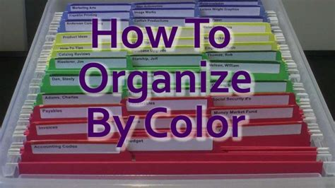 color coding how to organize by color